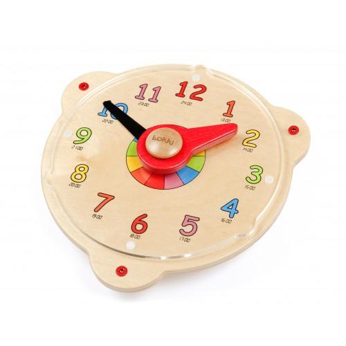 Wandspiel lernuhr von lokki hier beim holzspielzeug profi for Holzspielzeug profi
