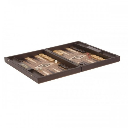 Bergames backgammon spiel aus walnussholz holzspielzeug for Holzspielzeug profi