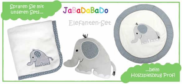 JaBaDaBaDo Baby-Set-Elefant: sparen Sie beim Holzspielzeug Profi!